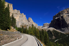 The mountaintops of the Dolomites Stock Image