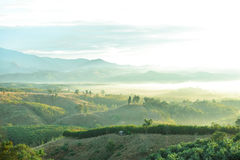 Mountainview. Mountain view in the morning royalty free stock photos