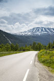 Mountanious road in Norway, Europe Stock Photography