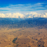 Mountans e la valle dei fiumi abbelliscono, posizione - lago Tekapo, isola del sud, Nuova Zelanda, vista dal supporto John Fotografia Stock
