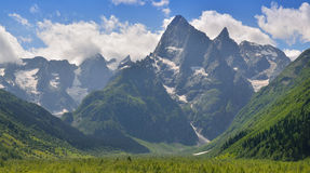 Mountans krajobraz Zdjęcia Royalty Free