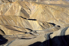 Mountauns около пропуска на высоте в 4.090 FotoLa измеряет, Leh-Ladakh, Джамму и Кашмир, Индию Стоковое фото RF