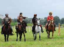 Mounted cavalry 1572 Stock Photos
