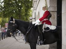 Mounted guard outside Horse Guards off Whitehall in central London Stock Image