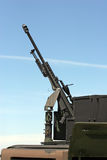 Mounted Gun. Large weapon mounted on an assault vehicle royalty free stock image