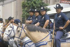 Mounted LAPD Royalty Free Stock Photo