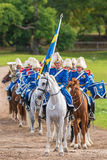The mounted music corps waiting for entering the stadium Royalty Free Stock Photo