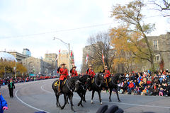 Mounted Police at Christmas Parade in Toronto Stock Photography
