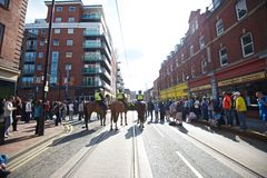 Mounted police cordon Royalty Free Stock Photos