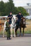 Mounted police at MAKS International Aerospace Salon Stock Photography