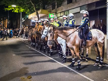 Mounted Police in Melbourne Stock Images