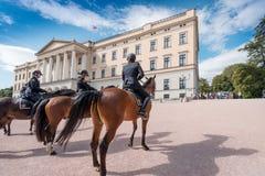 Mounted Police near Royal Palace Royalty Free Stock Photo