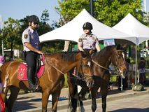 The mounted police Stock Photography