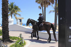 Mounted Police Office on the Coast Royalty Free Stock Images