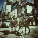 Mounted police Royalty Free Stock Images