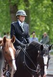 Mounted police. During trooping the colour London England Royalty Free Stock Image