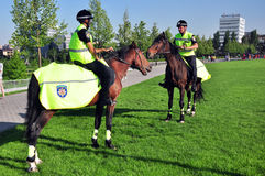 Mounted police in Ukraine Royalty Free Stock Image