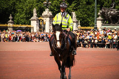 Mounted police, Victoria Memorial. Stock Photography
