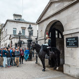 Mounted Queen`s Life Guard of the Household Cavalry, London Royalty Free Stock Photos