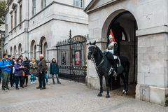Mounted Queen`s Life Guard of the Household Cavalry, London Royalty Free Stock Photo