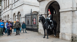 Mounted Queen`s Life Guard of the Household Cavalry, London Royalty Free Stock Images