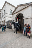 Mounted Queen`s Life Guard of the Household Cavalry, London Royalty Free Stock Image