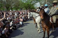 Mounted Riot Police at Protest Stock Photography