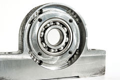 Mounted roller bearing unit. CNC milling lathe and drilling indu Royalty Free Stock Photography