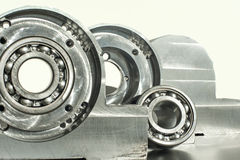 Mounted roller bearing unit. Mechanical engineering. Stock Images