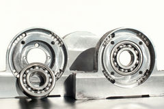 Mounted roller bearing unit. Mechanical engineering. Royalty Free Stock Photos