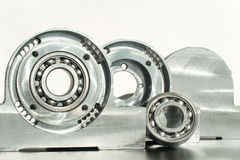 Mounted roller bearing unit. Mechanical engineering. Royalty Free Stock Image