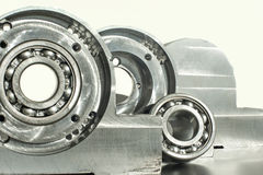 Mounted roller bearing unit. Mechanical engineering. Stock Photography