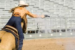 Mounted shooting 1 Stock Photo