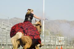 Mounted shooting 3. Mounted shooting action at the Arizona Cowboy Mounted Shooting Association 2007 southwest regional championship in Phoenix Stock Photos