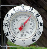 A mounted thermometer Stock Image