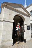 Mounted trooper of the Household Cavalry on duty at Horse Guards Stock Images