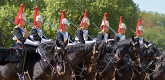 Mounted troopers of the Household Cavalry during ceremony at Hor Stock Images