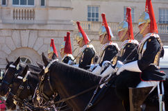 Mounted troopers of the Household Cavalry during ceremony at Hor Royalty Free Stock Image