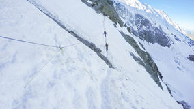 Mounteering pov on Couloir stage to Mont Blanc Stock Photography