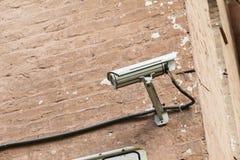 Mounter камеры слежения на стене Стоковые Фотографии RF