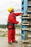 建筑mounter站点工作者 库存图片