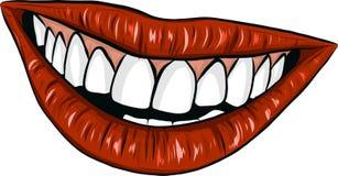 Mounth atractivo de la mujer del vector con los labios rojos libre illustration