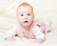 mounth för fyra spädbarn Fotografering för Bildbyråer