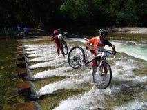 Mountian Bike Race Stock Images