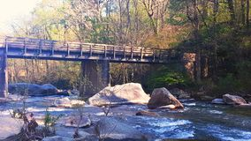 Mountian bridge Royalty Free Stock Photography