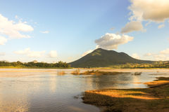 Mountian at Chiang Khan viewpoint Northeast Thailand Royalty Free Stock Images