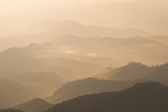 Mountian. Fog float above mountian in morning Royalty Free Stock Photography