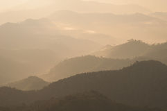 Mountian. Fog float above mountian in morning Stock Images