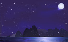 Mountian i natten Royaltyfri Foto