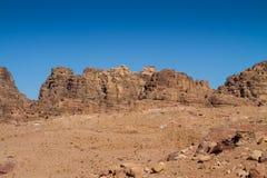 Mountian Landscape. In Petra, Jordan Stock Photos